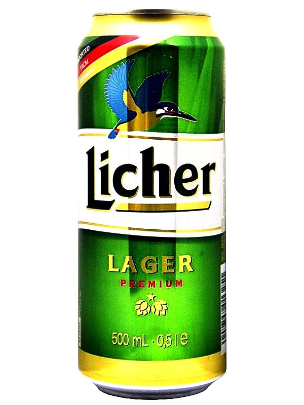 Лихер Лагер /Licher Lager 0,5л. алк.4.9% ж/б.