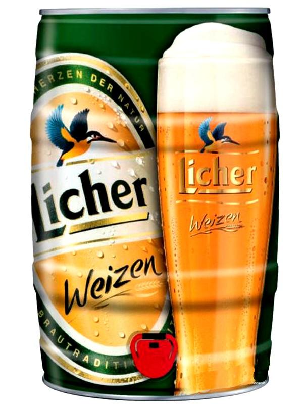 Лихер Вайзен / Licher Weizen 5л. алк.5,4% ж/б.