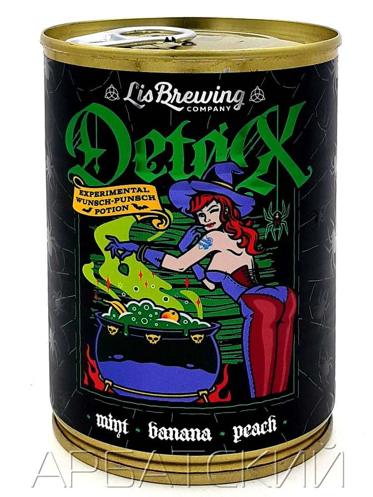Лис Бреу Фрут Бир / LiS Brew Detox Smoothie 0,425л. алк.5% ж/б.
