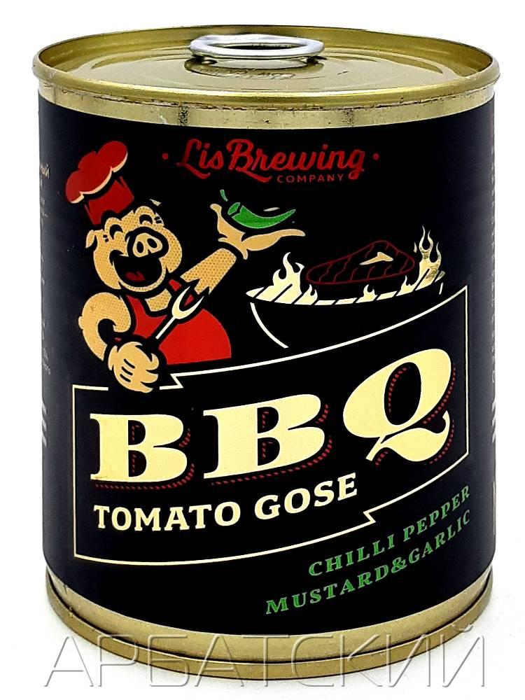 Лис Бреу БАРБЕКЮ ТОМАТО ГОЗЕ / LiS Brew BBQ Tomato Gose 0,33л. алк.5% ж/б.