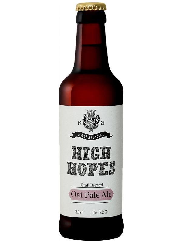Малласкоски Хай Хоупс Овсяный Светлый Эль / Mallaskoski High Hopes Oat Ale 0,33л. алк.5,2%