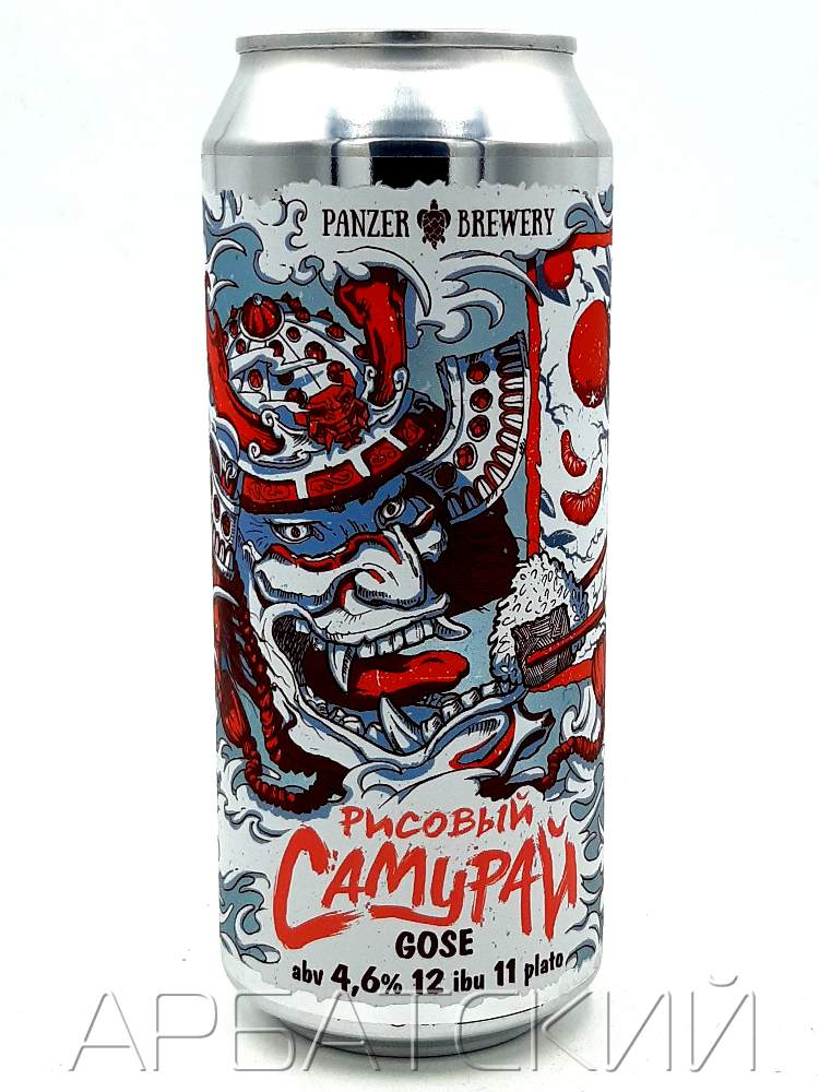 Панзер Рисовый Самурай / Panzer Rice Samurai 0,5л. алк.4,6% ж/б.