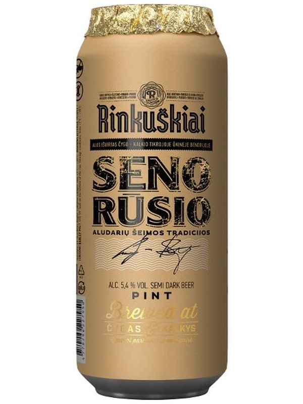 Ринкушкю Сено русио / Rinkuskiai Seno Rusio 0,568л. алк.5,4% ж/б.