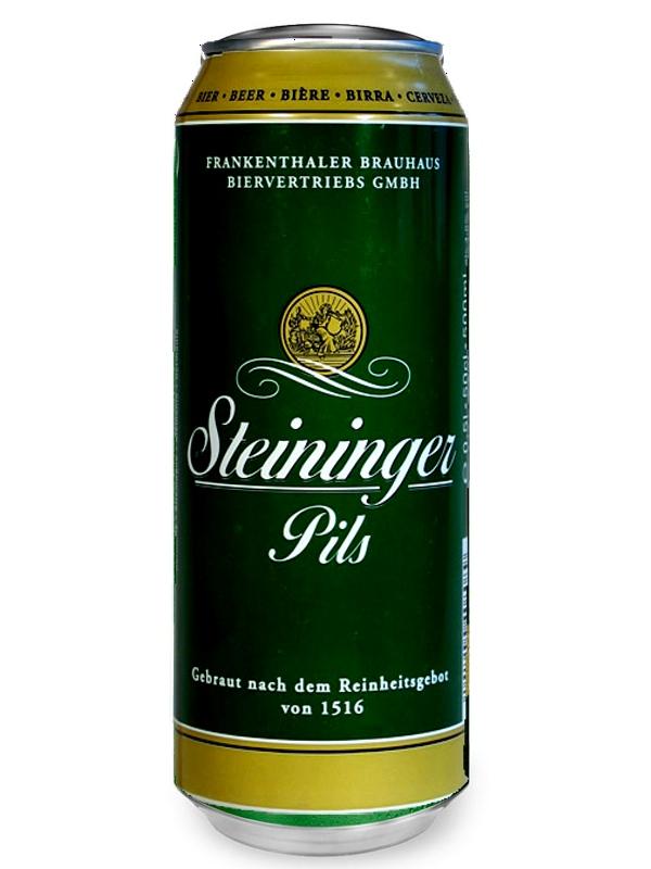 ШТАЙНИНГЕР Премиум Пилс / Steininger Premium Pils 0,5л. алк.4,8% ж/б.