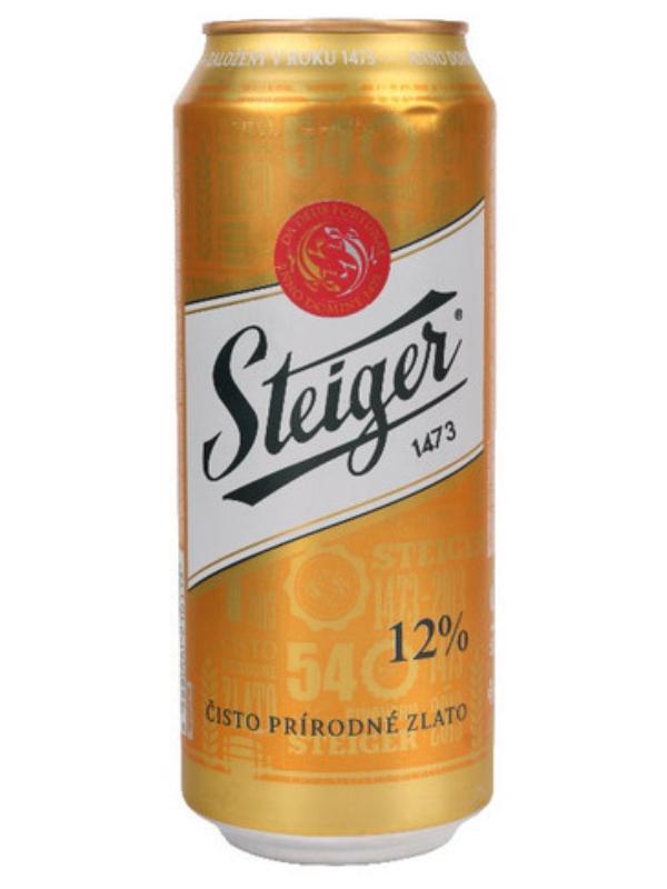 Штайгер 12% Светлый / Steiger 12% Svetly 0,5л. алк.5% ж/б.