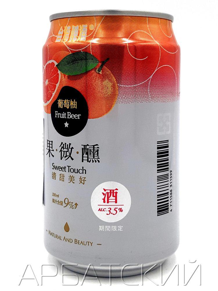 Свит Тач Фрут Бир Белый Виноград/Sweet Touch Fruit Beer White Grape0,33л.алк.3,5% ж/б.