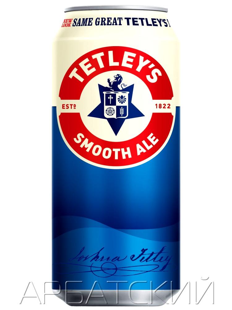 Тетлейс Смут Эль /  Tetleys Smooth Ale 0,44л. алк.3,6% ж/б.