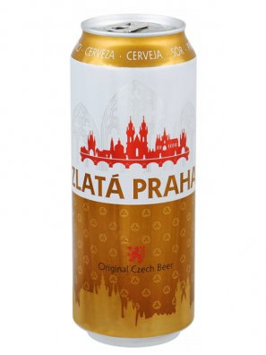 Злата Прага / Zlata Praga 0,5л. алк.4,7% ж/б.