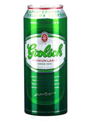 Гролш Премиум Лагер / Grolsch Premium Lager 0,5л. алк.5% ж/б.