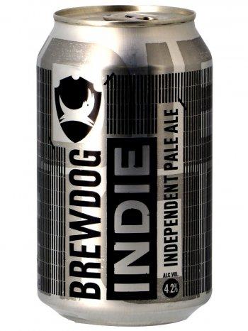 Брюдог Инди / BrewDog Indie Pale Ale 0,33л. алк.4,2% ж/б.