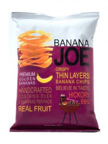 Чипсы Банан Джо со вк. Гикори барбекю / Banana Joe Hickory BBQ 50гр.