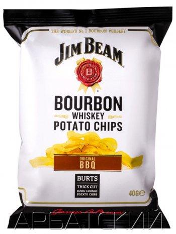Чипсы Джим Бим Ориджинал / Jim Beam Bourbon Whiskey Potato Chips, 40гр.