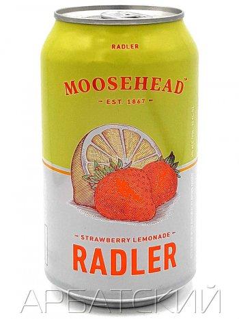 Музхед Клубника-Лимонад Радлер / Moosehead Strawberry Lemonade Radler 0,355л. алк.4% ж/б.