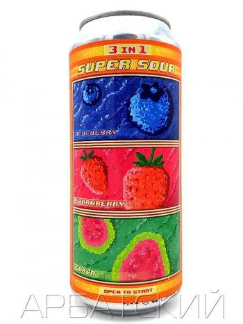 Штамм Империал Саур Эль 3в1 /Stamm Imperial Sour Ale Super Sour 3in1 0,5л. алк.7% ж/б.