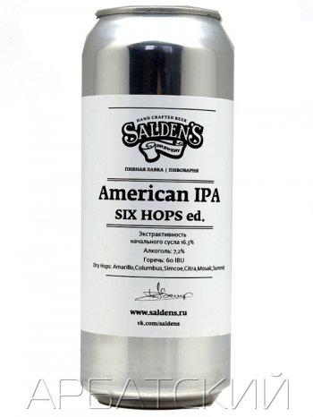 Салденс 4С Американ ИПА / Saldens American IPA 4C 0,5л. алк.7% ж/б.