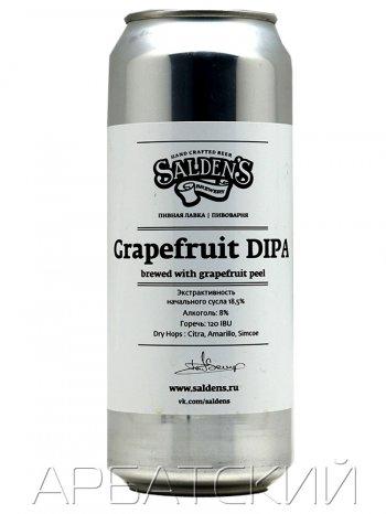 Салденс Специальный Дабл ИПА / Saldens Grapefruit DIPA  0,5л. алк.7% ж/б.