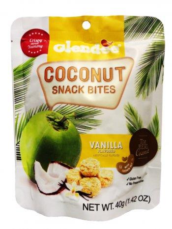 Снэки Кокосовые Гленди со вкусом ванили / GLENDEE Vanilla 40гр.