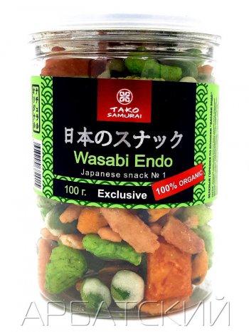 """Снэки Зеленый горошек по Японски """"Васаби Эндо"""", 100гр."""