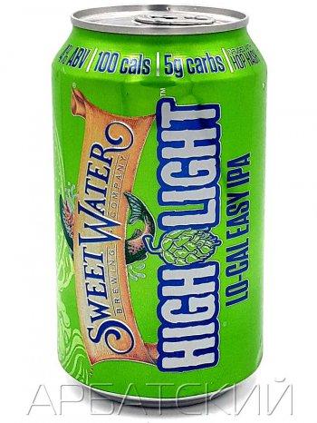 СвитВотер Хай Лайт / Sweet Water High Light 0,355л. алк.4% ж/б.